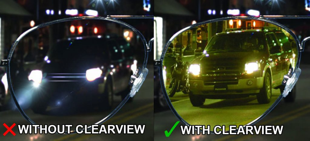 clear view driving glasses at night